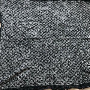 Luis vuitton monogram denim shawl